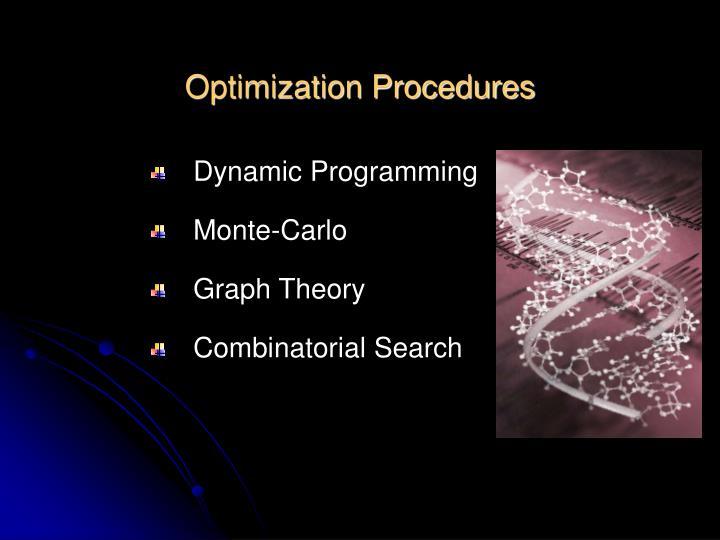 Optimization Procedures