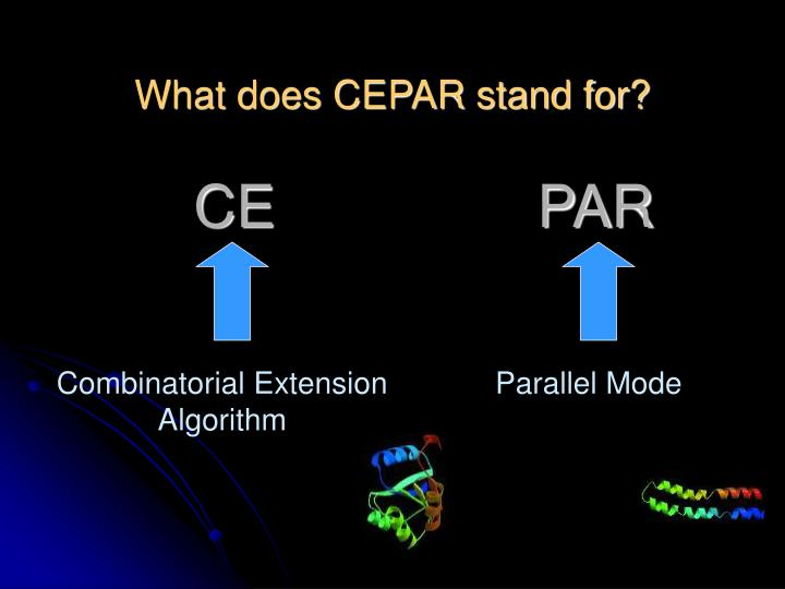 What does CEPAR stand for?