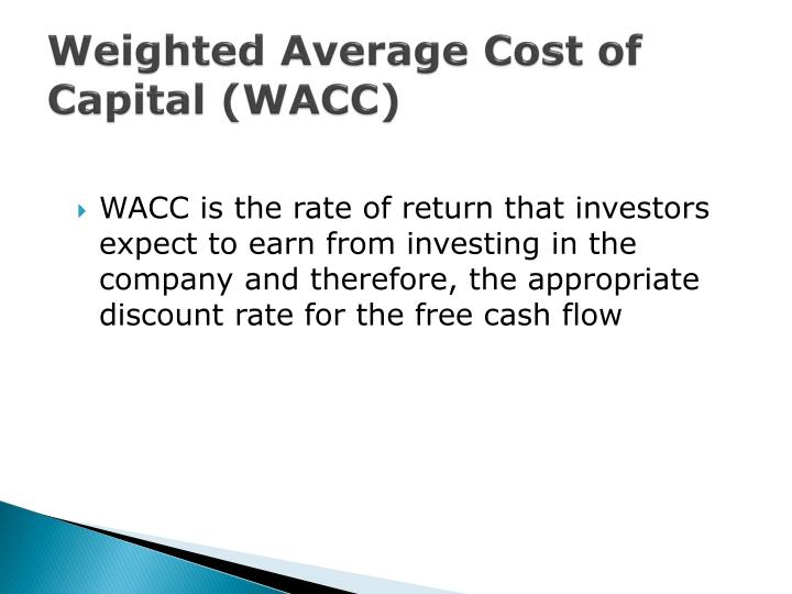 Weighted Average Cost of Capital (WACC)