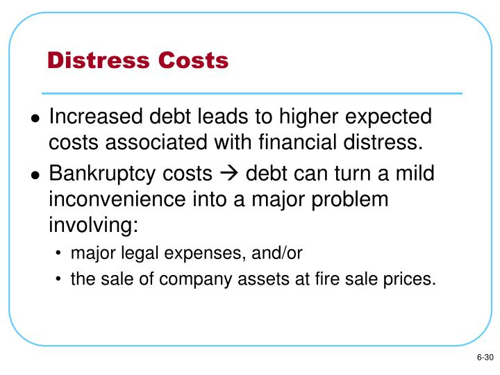 Distress Costs