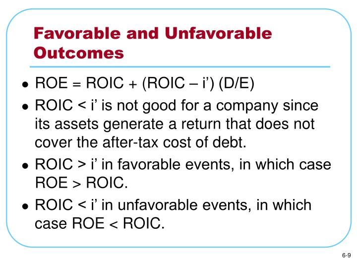 Favorable and Unfavorable Outcomes