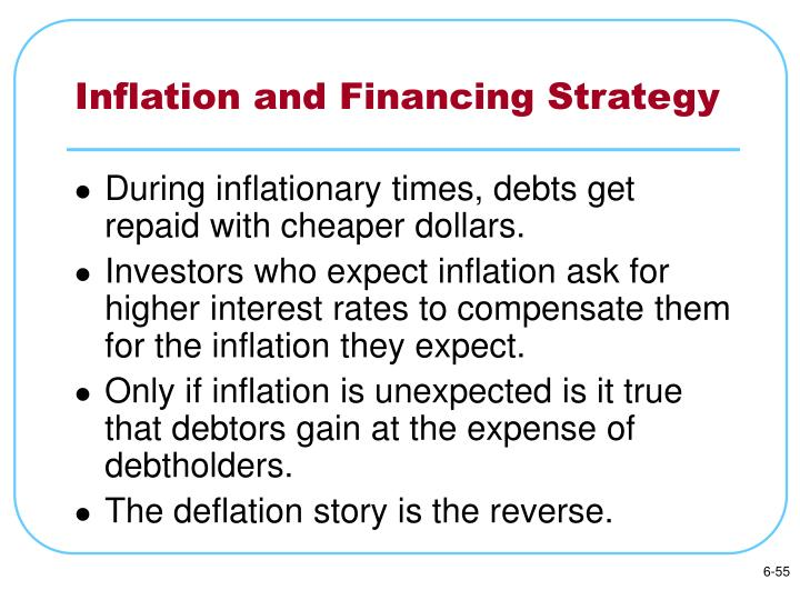 Inflation and Financing Strategy