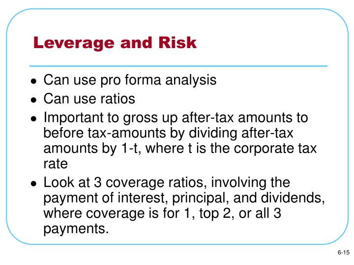 Leverage and Risk