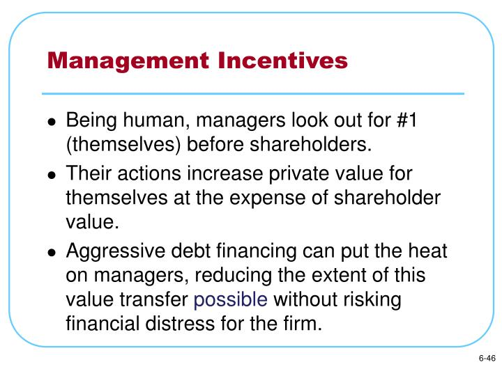 Management Incentives