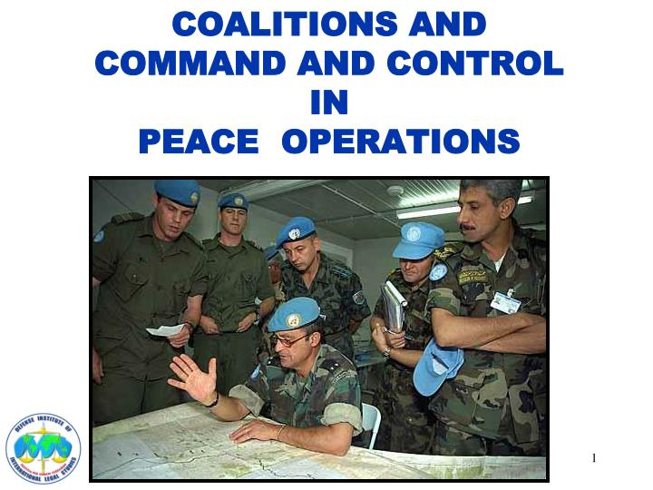 coalitions and command and control in peace operations n.