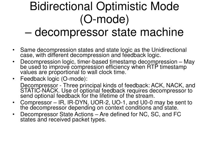 Bidirectional Optimistic Mode