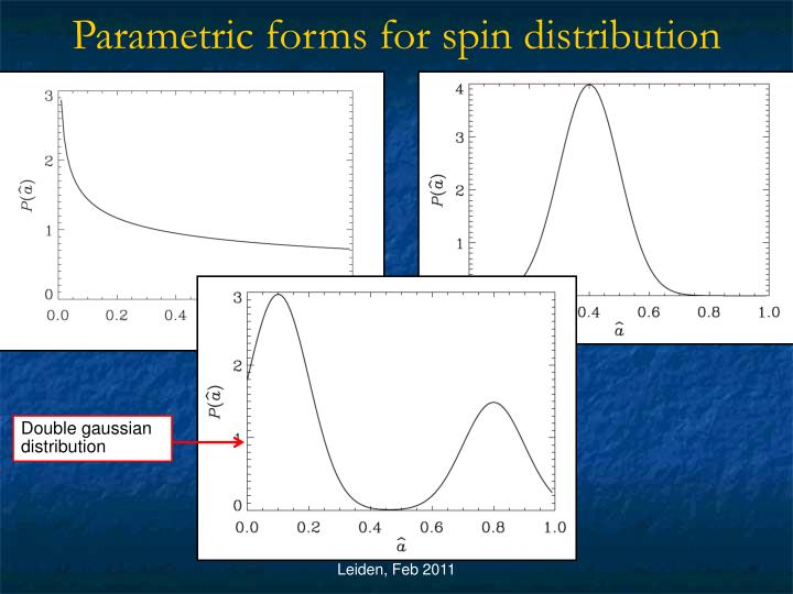 Parametric forms for spin distribution