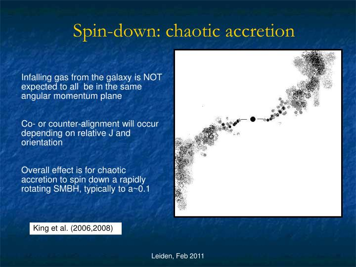 Spin-down: chaotic accretion