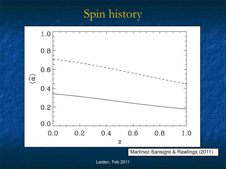 Spin history