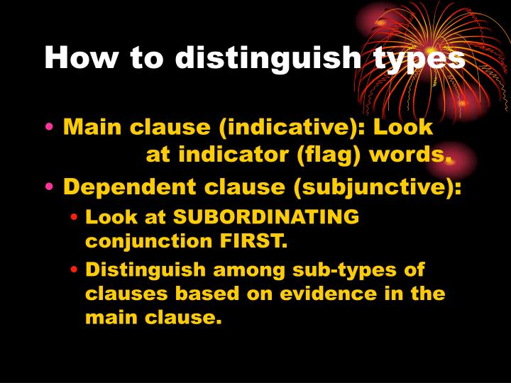 How to distinguish types