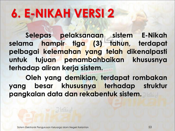 6. E-NIKAH VERSI 2