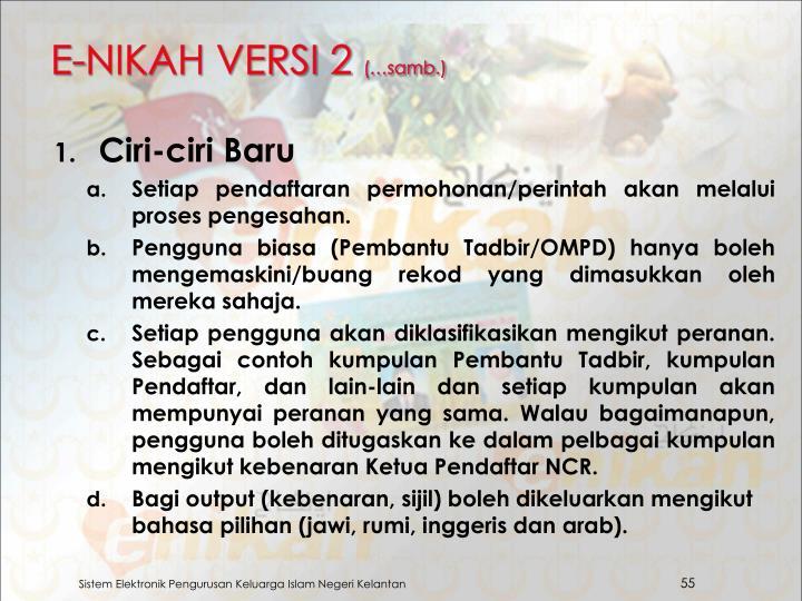 E-NIKAH VERSI 2