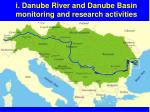 i danube river and danube basin monitoring and research activities