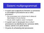 sistemi multiprogrammati10