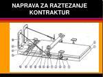 naprava za raztezanje kontraktur