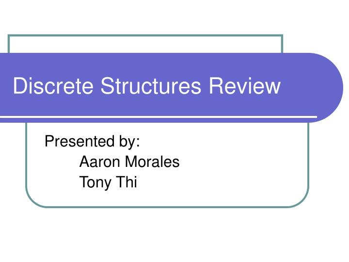 discrete structures review n.