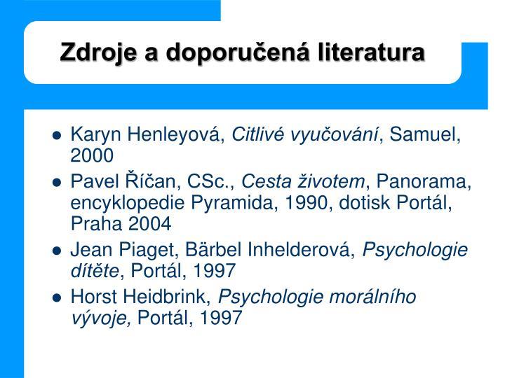 Zdroje a doporučená literatura