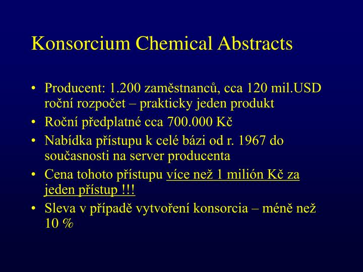 Konsorcium Chemical Abstracts