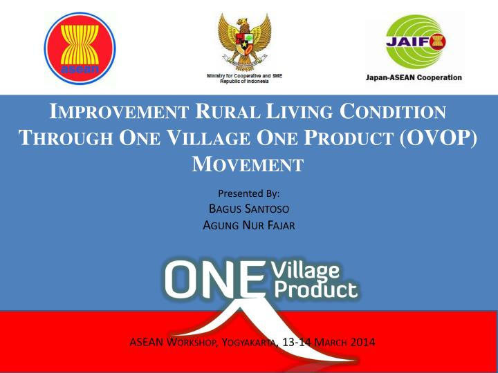 improvement rural living condition through one village one product ovop movement n.