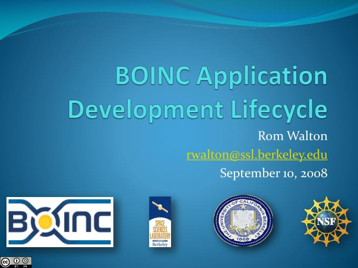 boinc application development lifecycle n.