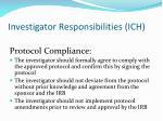 investigator responsibilities ich4