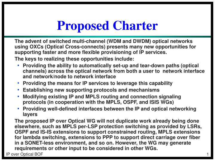 proposed charter n.