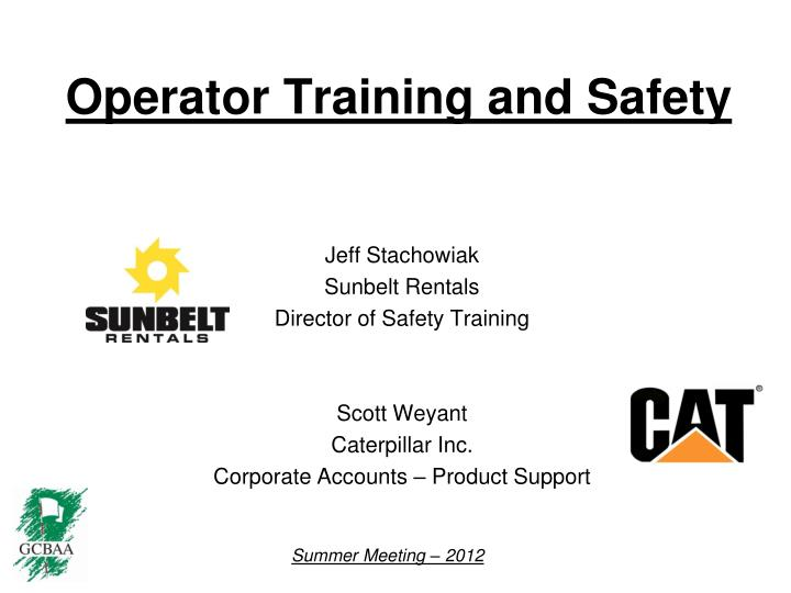 operator training and safety n.