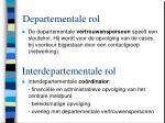 departementale rol