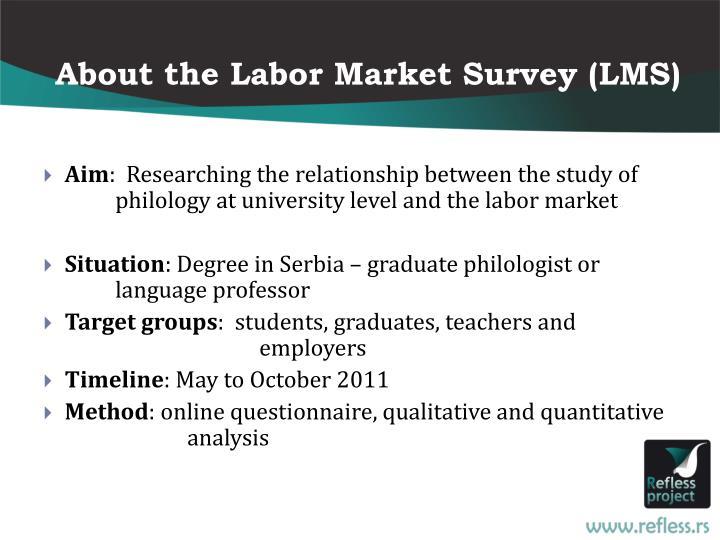 About the Labor Market Survey (LMS)