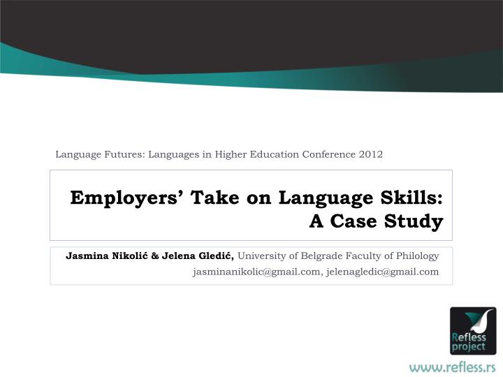 Language Futures: Languages in Higher Education Conference 2012