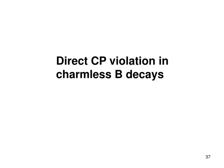 Direct CP violation in
