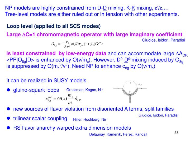 NP models are highly constrained from D-