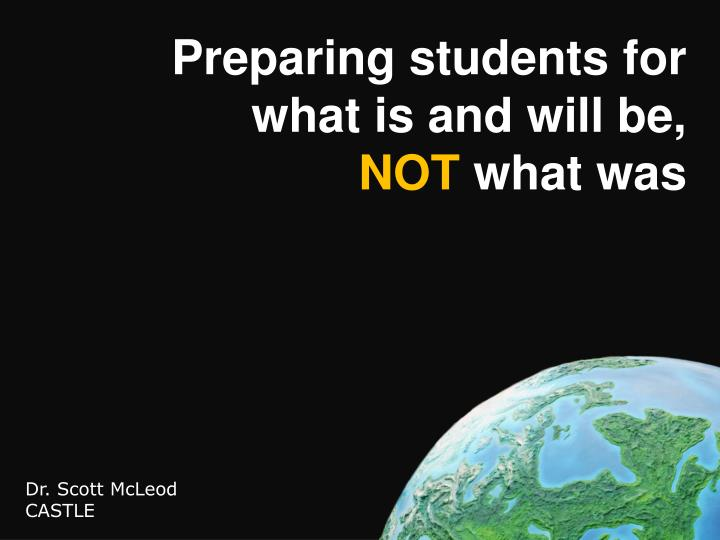 Preparing students for