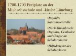 1700 1703 freiplatz an der michaelisschule und kirche l neburg