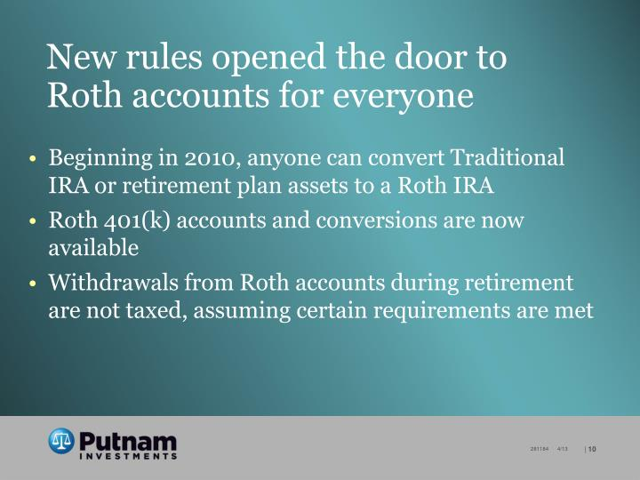 New rules opened the door to Roth accounts for everyone