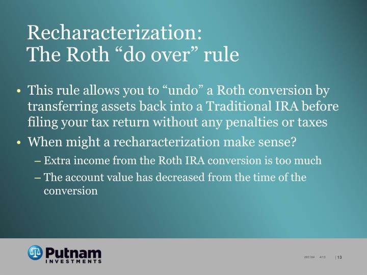 Recharacterization: