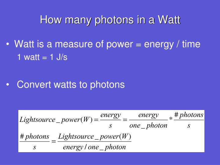 How many photons in a Watt
