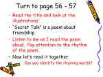 turn to page 56 57