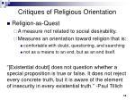 critiques of religious orientation1