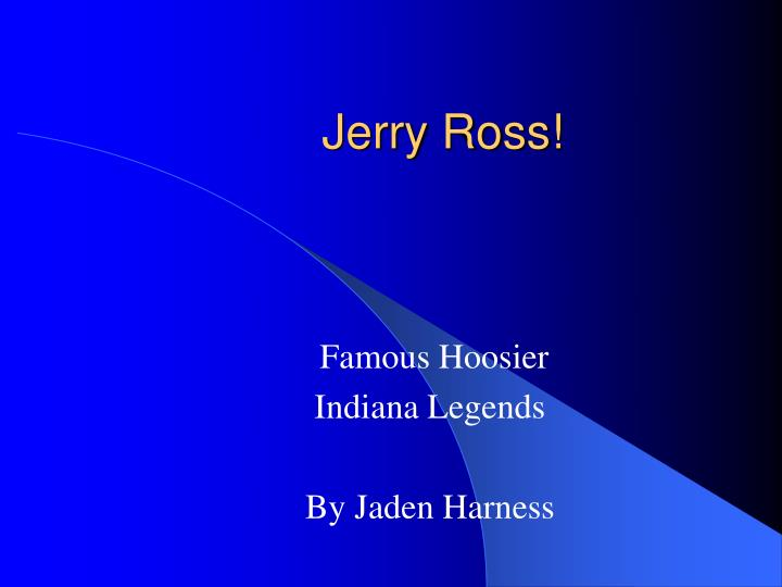 jerry ross n.