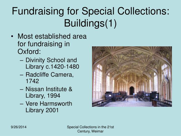 Fundraising for Special Collections: Buildings(1)