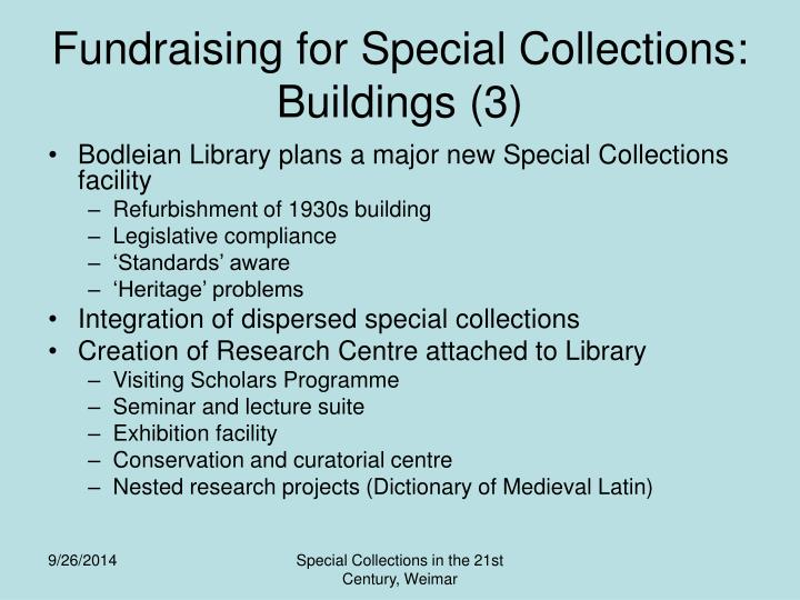 Fundraising for Special Collections: Buildings (3)