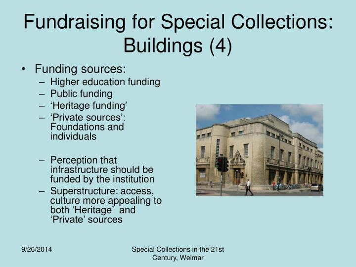 Fundraising for Special Collections: Buildings (4)