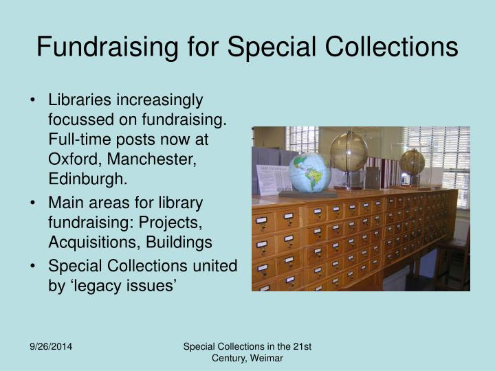 Fundraising for Special Collections