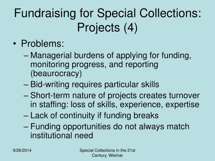 Fundraising for Special Collections: Projects (4)