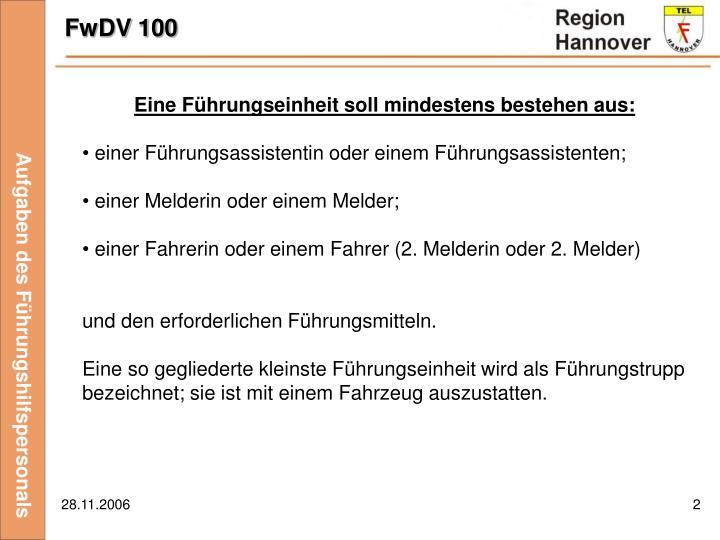 FwDV 100