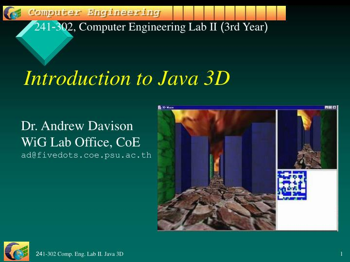 introduction to java 3d n.