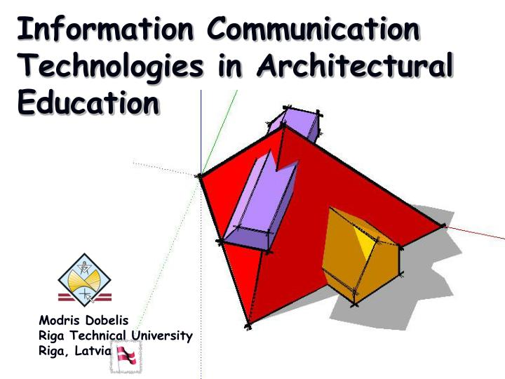 information communication technologies in architectural education n.