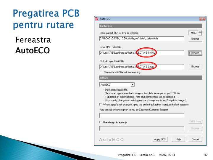Pregatirea PCB