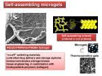 self assembling microgels